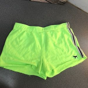 Lime PINK Sweat Shorts
